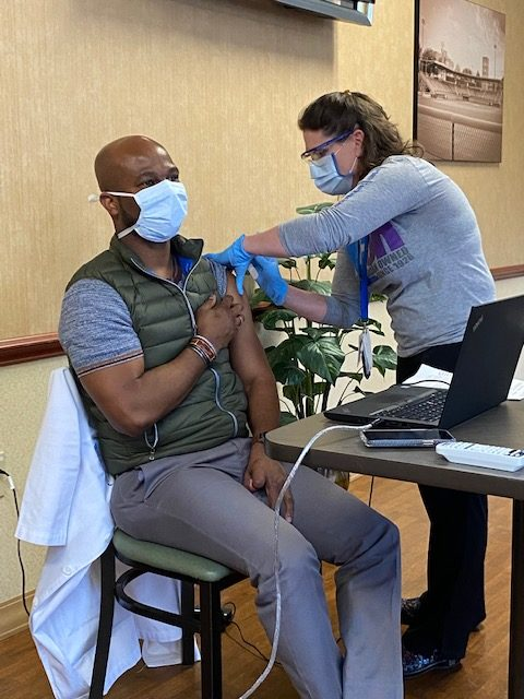 Lead Hospitalist Completes Second COVID Vaccine