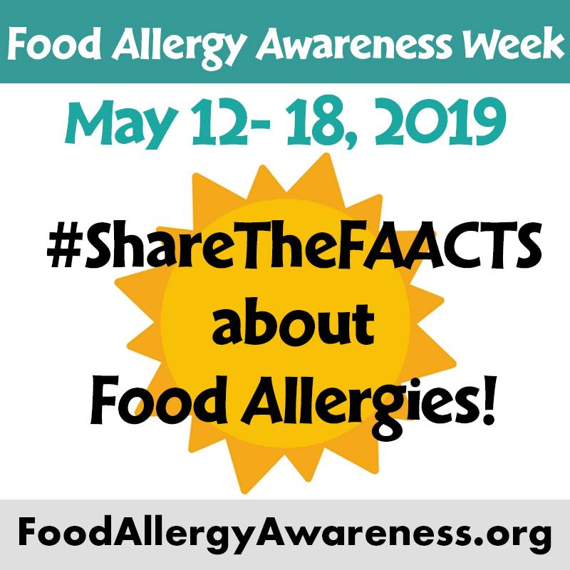 Food Allergy Awareness Week May 12-18, 2019